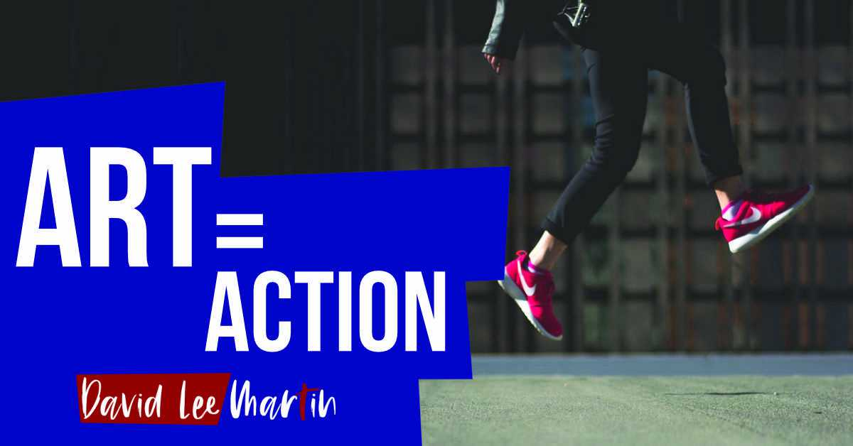 art equals action