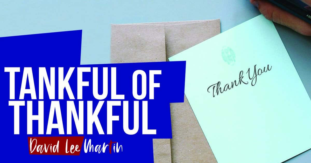 Living With My Tankful of Thankful