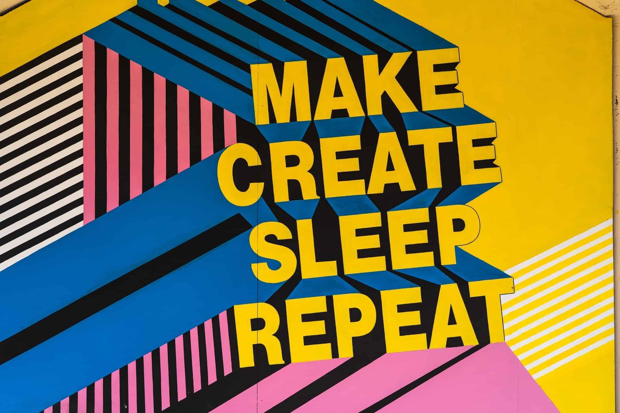 create sleep repeat